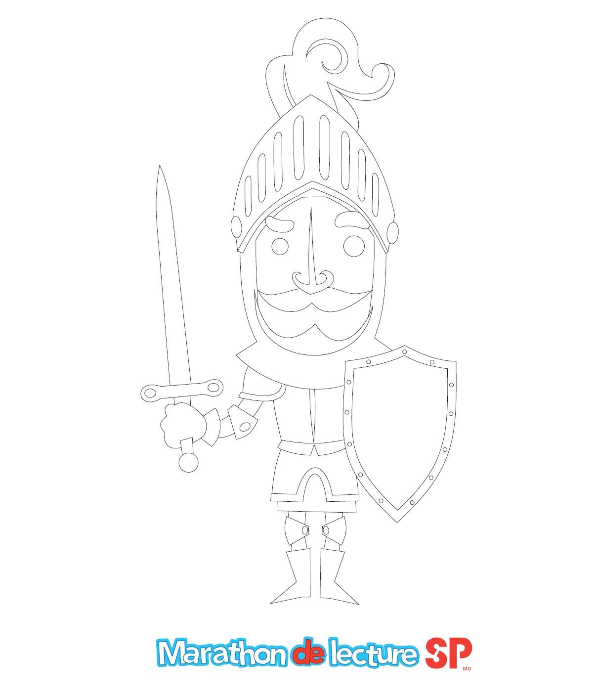 Sir Litbeaucoup - Image à colorier