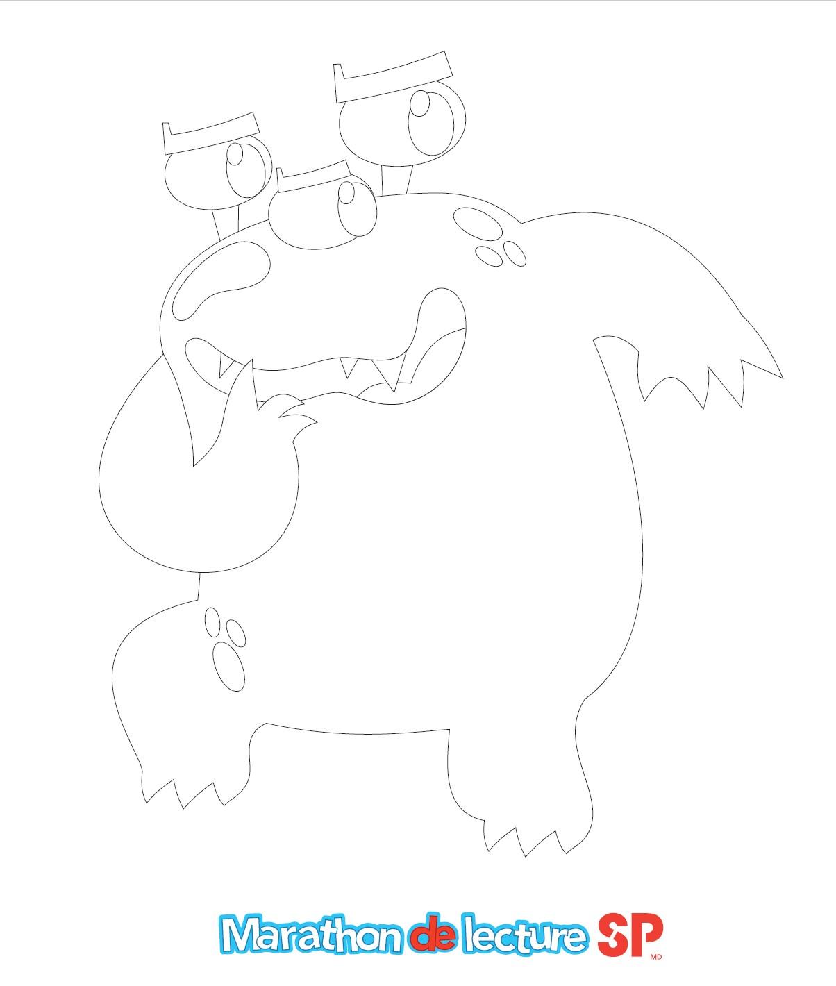 Boris - Image à colorier
