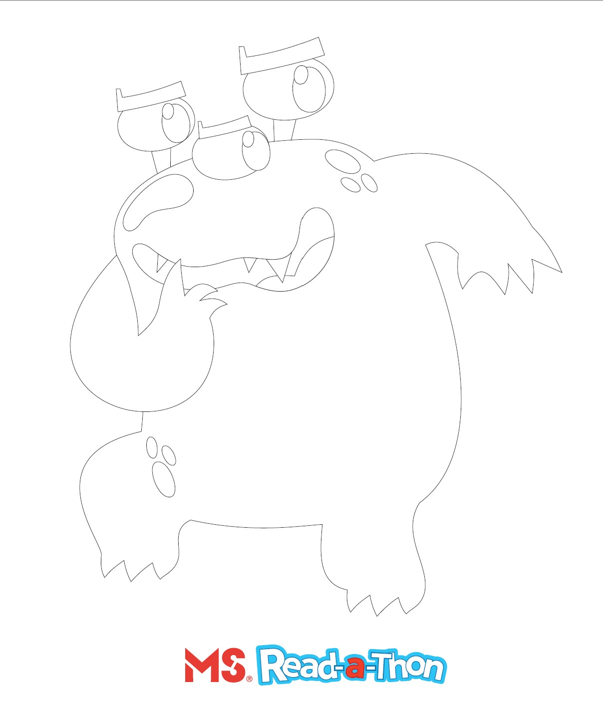 Bookie Monster Colouring Sheet